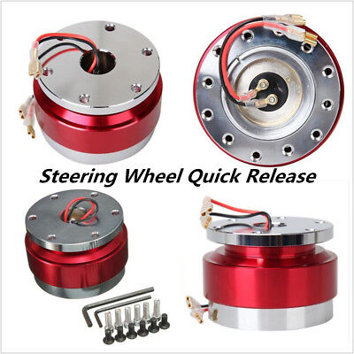 Car Red Steering Wheel Quick Release Hub Adapter Snap Off Boss Kit With screws