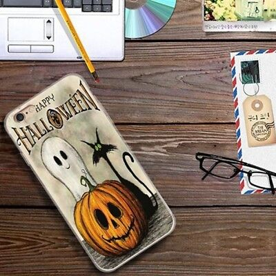 Pumpkin Ghost Halloween Soft TPU Phone Case Cover For iPhone 7 6 6s Plus 5s SE