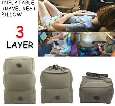 Travel Inflatable Foot Rest Portable Pad Footrest Pillow Kids Plane Train Bed