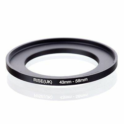 RISE(UK) 43-58mm 43-58 Step-Up Metal Lens Adapter Filter Ring Camera Adapter