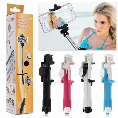 Extendable Selfie Stick Tripod Remote Bluetooth Shutter For iPhone 8 7 6 Samsung