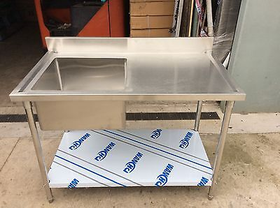 Brand New Commercial Stainless Steel Single Sink 120cm(L)x70cm(W)x90(H)cm