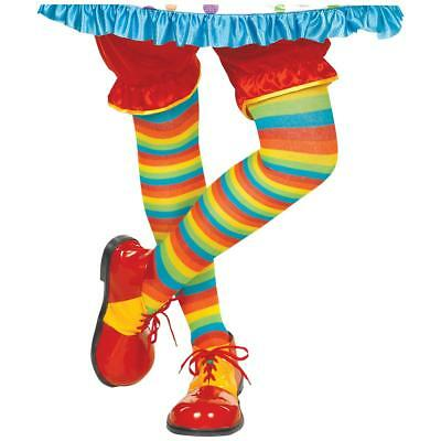 FANCY DRESS Multi-Coloured Circus Clown Shoes – Size Adults