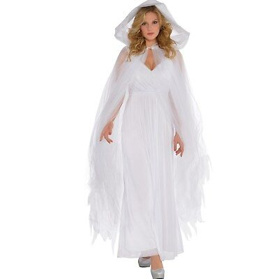 FANCY DRESS Adult White Temptress Cape