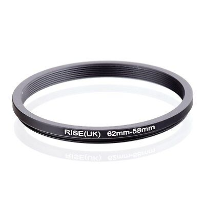 RISE(UK) 62-58MM 62 MM- 58 MM 62 to 58 Step Down Ring Filter Adapter