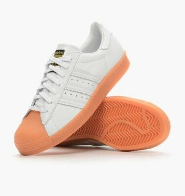 official photos 9370c 4ff71 Adidas Originals Superstar 80 S Deluxe Womens Trainers White + Gum Uk Size  4.5