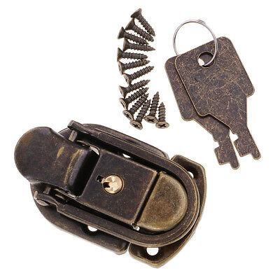 Old Vintage Antique Style Padlock Lock w/ Keys for Handbag Small Luggage Box