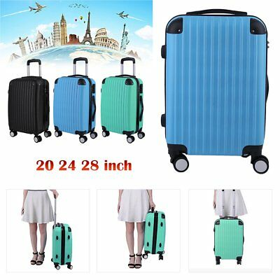 Hard Shell 4 Wheel Spinner Suitcase Set Luggage Trolley Case Cabin Hand 3 Color