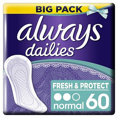 Always Dailies Fresh and Protect Normal Pantyliners  60 Pads MEGA PACK Large 1