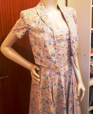 Vintage Laura Ashley Cotton Dress and Jacket Unworn still with tags size 8