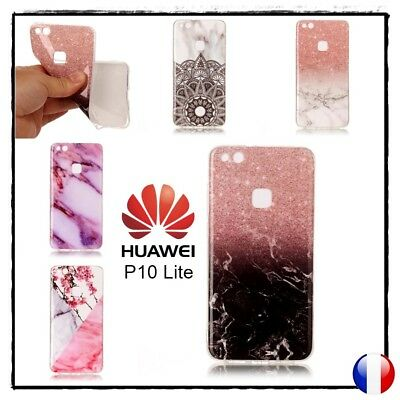 Etui housse coque Souple Glossy TPU Gel Jelly Soft Case Cover Huawei P10 Lite