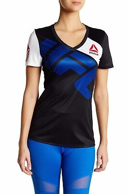 New Women's REEBOK UFC Official Fighter Jersey Shirt - Ronda Rousey AI0661