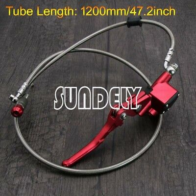 1200MM Hydraulic Clutch Lever Red Master Cylinder Dirt Pit Bike Motorcycle Hot