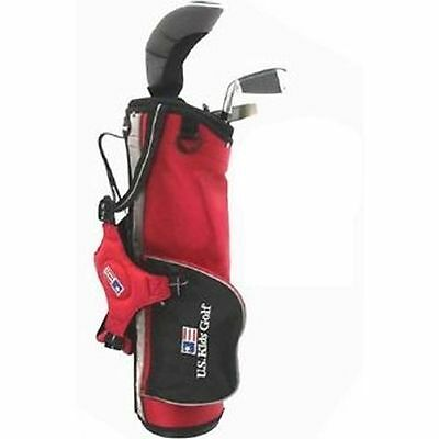 Junior US Kids Golf Set 3-5 Years Old Red
