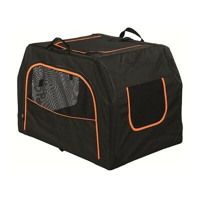 TRIXIE Box de transport Extend - S-M : 68x47x48 cm - Noir et orange - Pour chien