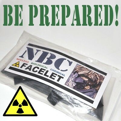 Nbc Facelet - Sealed & Un-Issued Nato Emergency Protective Gas Mask - Uk Stock