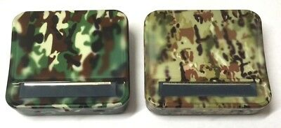 Army Green Camouflage Automatic Rolling Machine Strong Cigarette Metal Tin