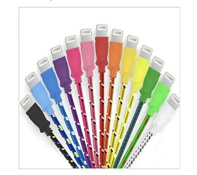 Wholesale Lot of 20 Braided Lightning iPhone 5 6 7 USB Cables with UPC Code