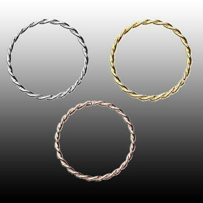 Rose Gold Twist Rope Steel Bendable Nose Hoop Silver Body Jewelry Sexy Fun Cute