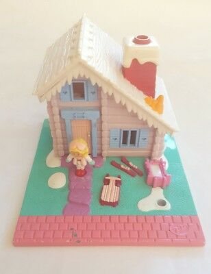 Polly Pocket 1993 Ski Lodge, with one doll