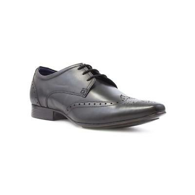 Silver Street Mens Black Leather Brogue Shoe - Sizes 7,8,9,10,11,12