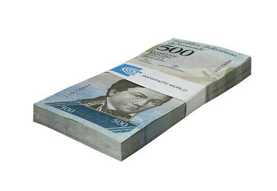 Venezuela 500 Bolivares X 100 Pieces (PCS), 2007-17, P-NEW, UNC, Bundle, Pack