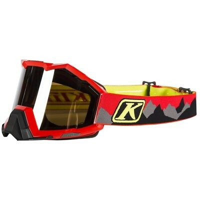 Klim Viper Mountains Red Silver Mirror Lens Mens Snowmobile Winter Goggles