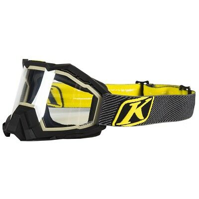 Klim Viper Fade Black Clear Tint Lens Mens Snowmobile Winter Goggles
