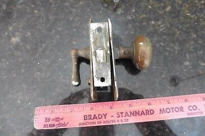 brass Door Knob & handle latch w/ plates vintage Antique architectural salvage