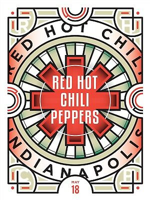 "RED HOT CHILI PEPPERS 18x24"" Illustrated Concert Poster INDIANAPOLIS"