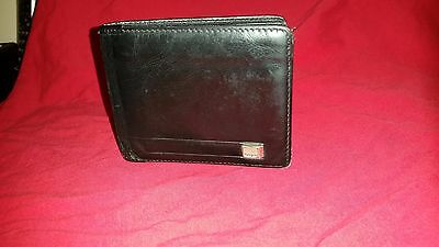 Authentic  Salvatore Ferragamo Men's Black Bill Wallet (bi-fold) BLACK