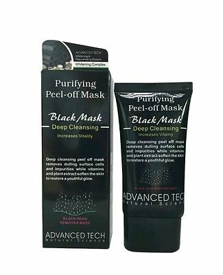 Blackhead Remover Face Mask Deep Cleansing Pore Peel Acne Black Mask 50ml - UK