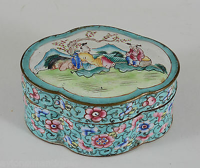 Antique Chinese Canton Enamel Box