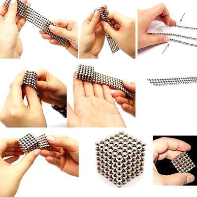 Magnetic Cube Magnet Balls Magic Square 3D Puzzle Ball Sphere Toy 50pcs