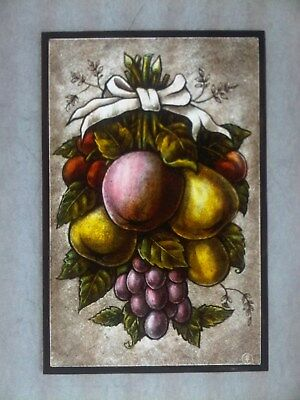 Beautiful Stained glass panel. Hand painted .Kiln fired.220  x 145 mm, New.