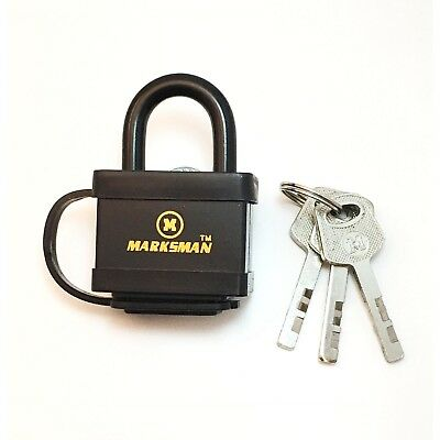 30mm Security Heavy Duty Black Padlock shed Lock