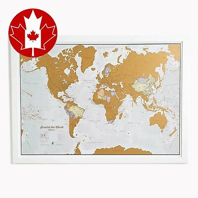 Scratch the World® - scratch off places you travel map print! Updated New 2017