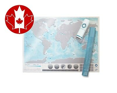 Luckies of London Scratch Map Oceans Edition Clear Featuring in Depth Detail...