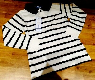 boys french designer jacadi polo top nautical age 2-3 3-4 5-6 7-8 9-10 11-12 $35
