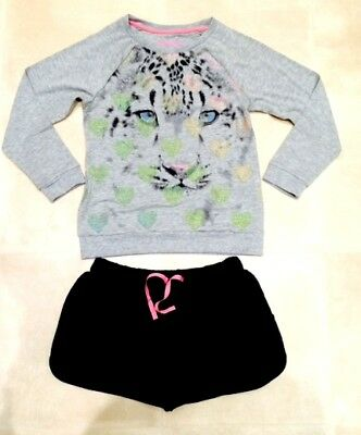 New girls faMouS high st tiger pyjamas lounge outfit set age  9-10 11-12  years