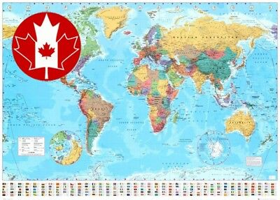 World Map 2011 Collections Giant Poster Print, 55x39 New Updated 2017