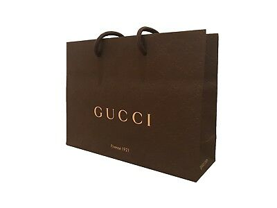 Gucci 100% Genuine Branded Gift Bag Brown Paper Gift Bag Packaging Carrier