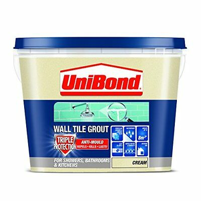 UniBond 1617927 - Triple Protect Anti-Mould Azulejo Lechada - Crema