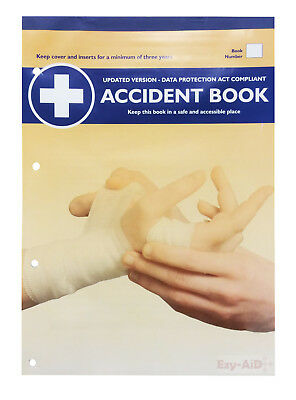 40 Records HSE Compliant A4 Accident Book - Workplace Injury Record / Log