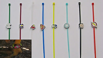 Chicken / Poultry Leg Bands charms - Set of 8 Glamorous Bands with Charms