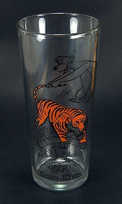 Walt Disney Animated The Jungle Book Movie 1966 Shere Khan Tiger Drinking Glass