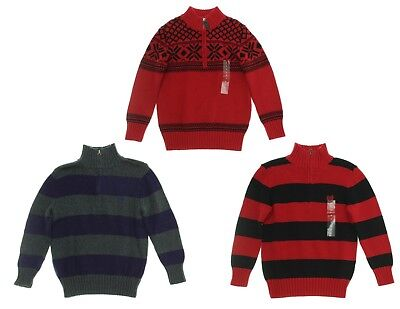 Chaps Boys' Holiday ¼ Zip Pullover Sweater - Select size/color - New No Tags