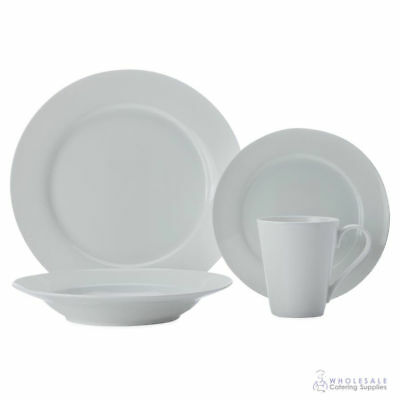 White Dinner Set 16 Pc Maxwell & Williams Cashmere Rimmed Setting Gift Box NEW