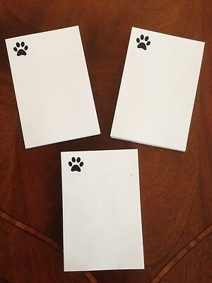 "Refill Note Paper  * DOG PAW*  Loose Sheets - 4 x 6 ""  100 Sheets * Lot of 3*"