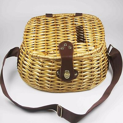 Wicker Fishing Creel de pêche panier de poisson en Osier 30cm *18cm